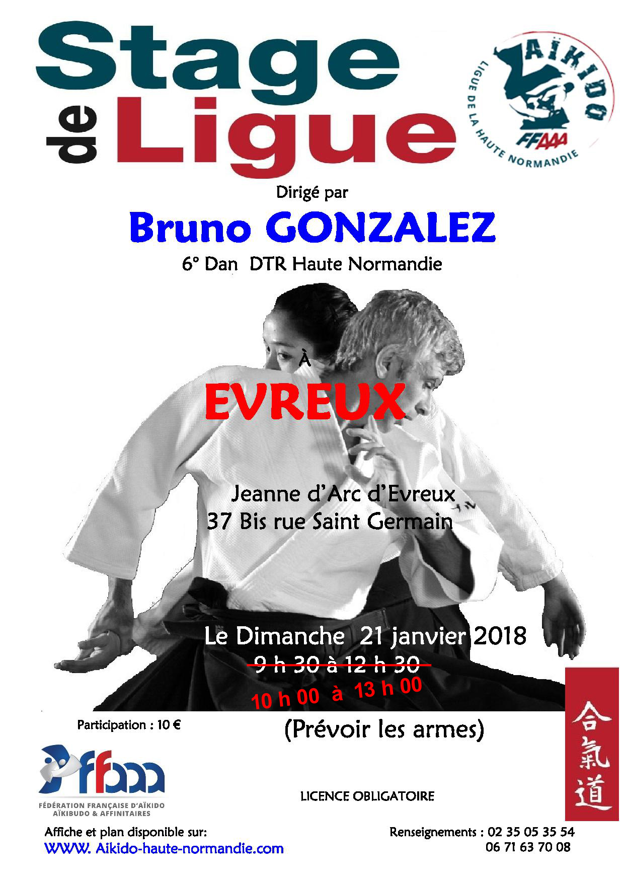 Stage de ligue Bruno Gonzalez