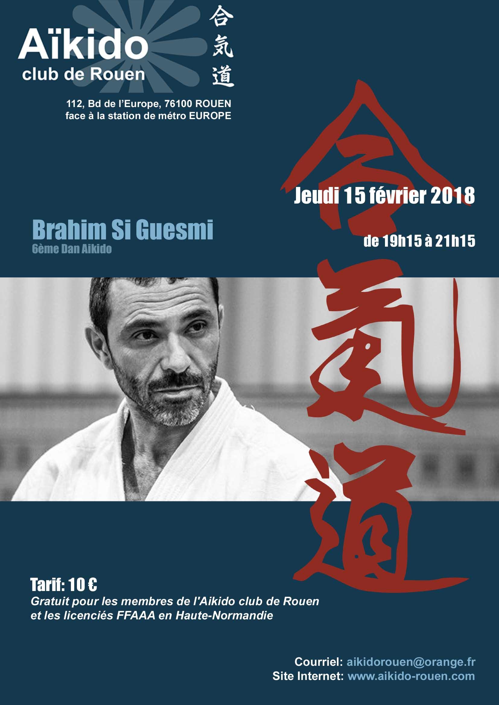 Brahim Si Guesmi à Rouen le 15 fév.