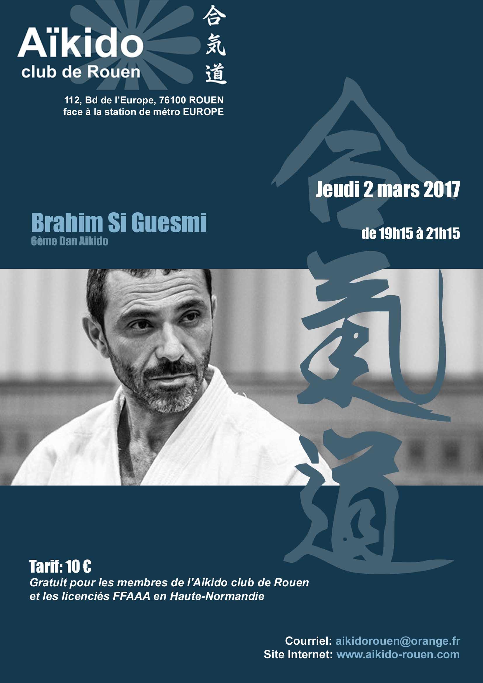Brahim Si Guesmi à Rouen - le 2 mars