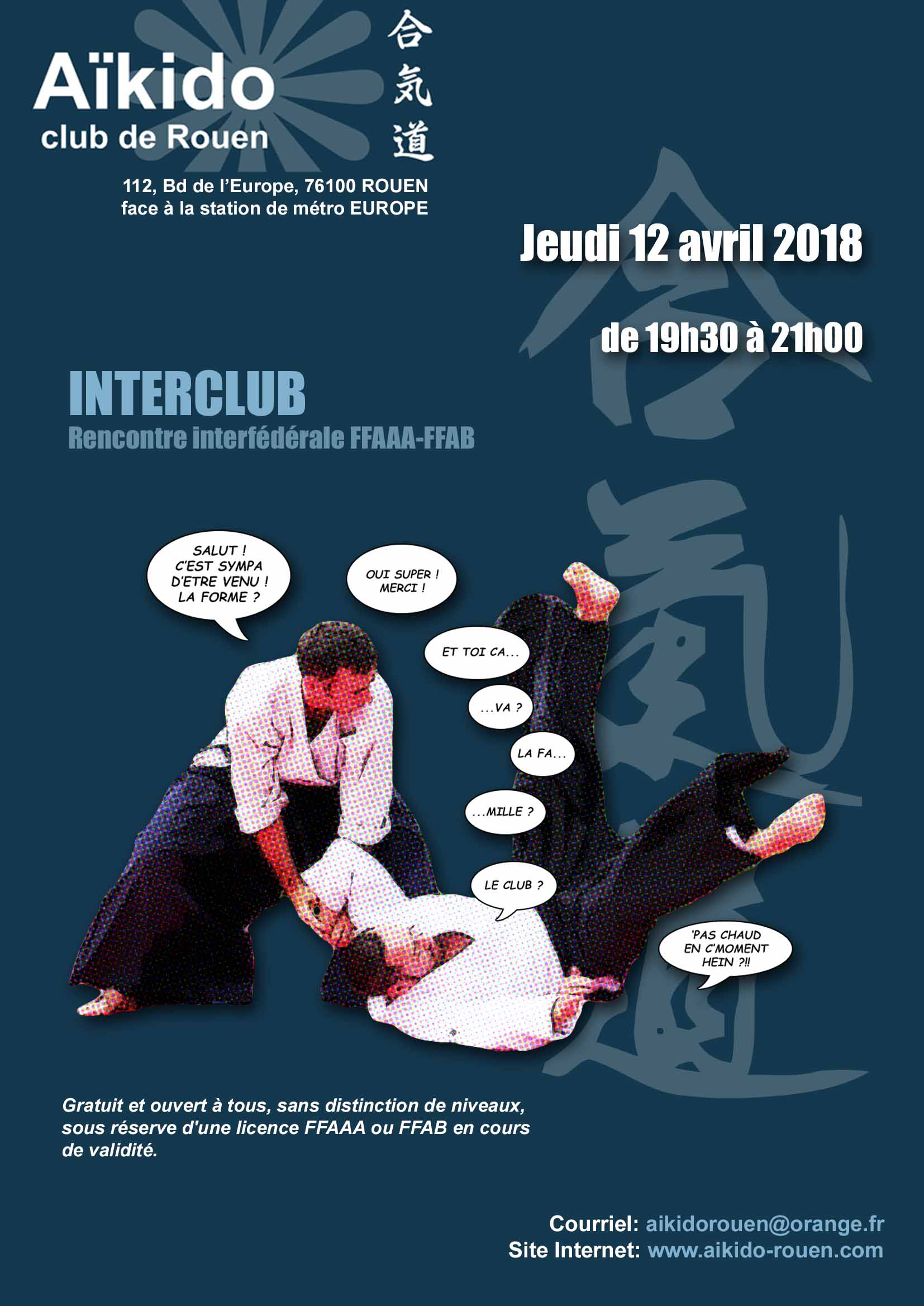 Interclub à Rouen jeudi 12 avril
