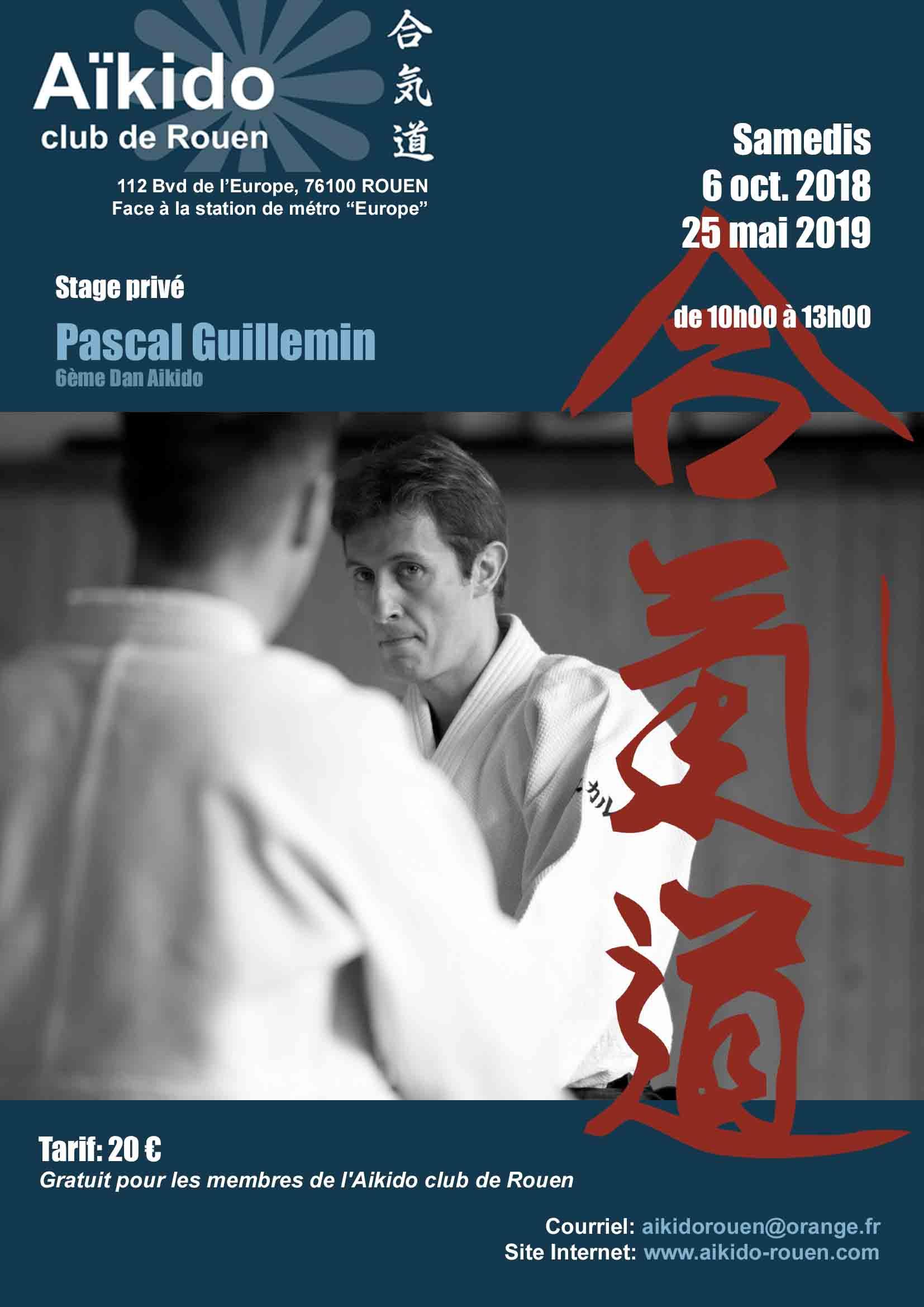 Pascal Guillemin à Rouen le 6 Octobre 2018