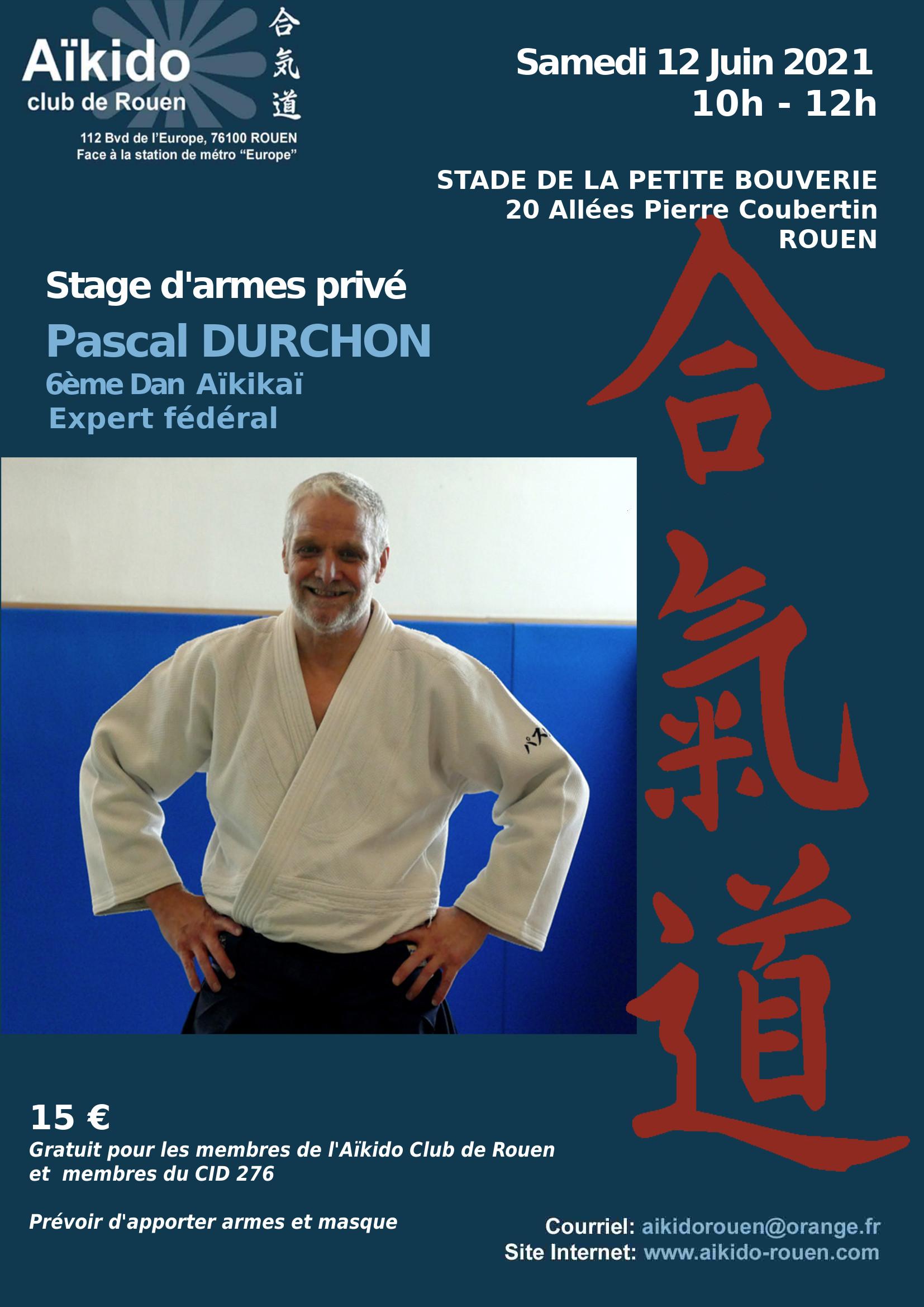 Stage animé par Pascal Durchon juin 2021