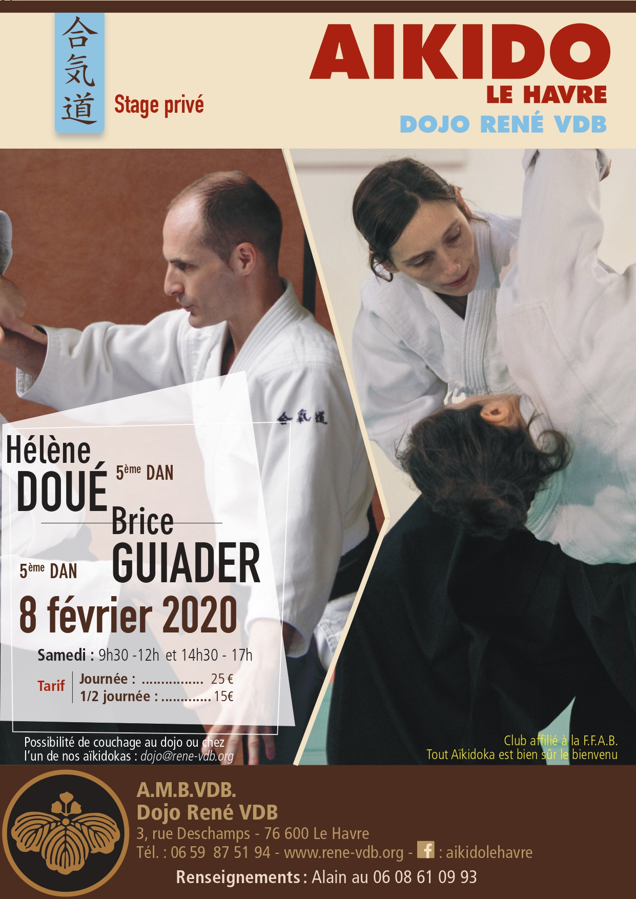 Stage Brice Guiader et Hélène Doué