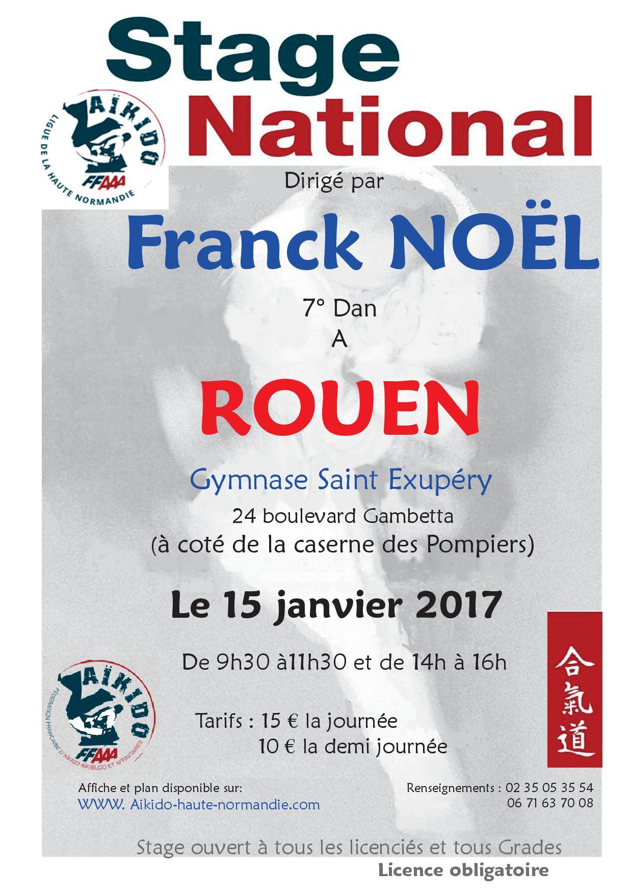 Rappel stages Franck NOEL Shihan